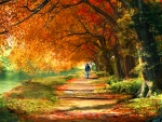 Man Walking in Autumn