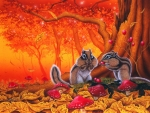 Autumn Chipmunks
