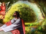 Jesus praying in the garden