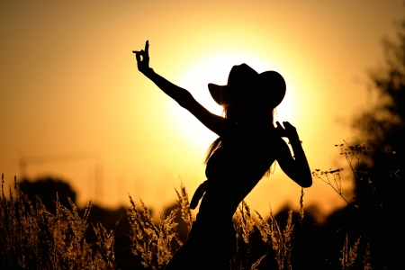 cowgirl silhouett wallpaper - photo #36