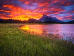 Sunset at Vermillion Lakes, Alberta, Canada
