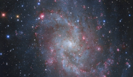 The Hydrogen Clouds of M33 - space, cool, stars, galaxies, fun