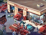Busy Saturday at the Phillips 66 F
