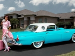 1957 Thunderbird and Model (Retro)