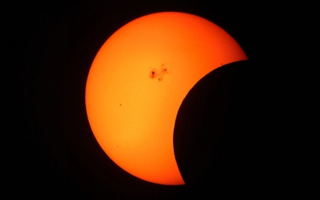 Partial Solar Eclipse - photography, wide screen, beautiful, abstract, solar eclipse, photo, forces of nature, nature
