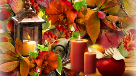 Autumn candles - Other & Abstract Background Wallpapers on ... |Fall Candles Background