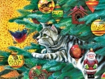 Christmas Tree Cat f