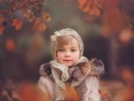 Girl child in autumn