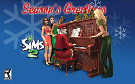 The Sims 2 Christmas - the sims 2, game, the sims, christmas, video game