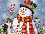 Snowman and Kitten F1Cmp