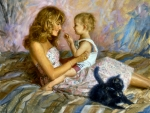 Mother, Child and Kitten F