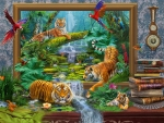 Fantasy with tigers