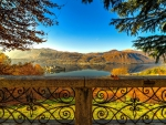 View of lake Orta-Italy