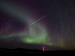 Northern Lights-Stars and Rocket Launches