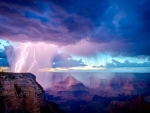 Thunderstorm in A Canyon