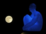 Supermoon rises behind a statue in France on November 14, 2016