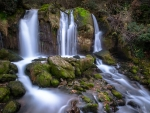 Waterfall on the Bastareny River, Spain