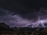 Lightning at Valley of the Gods