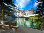 Moraine lake bench