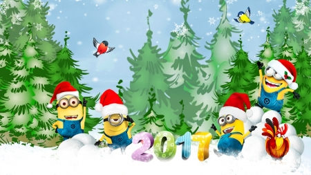 Minions Singing We Wish A Merry Christmas