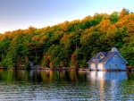 Autumn Boathouse