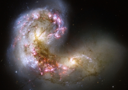 The Antennae galaxies - Space, The Antennae galaxies, Hubble image, Galaxies