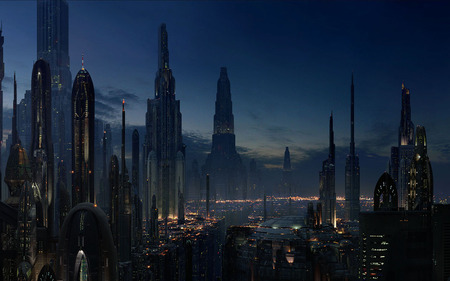 Coruscant - dark, graphics, fantasy