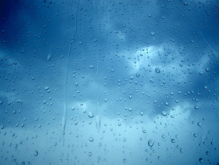 Rain - rain, lonely, sky, cloudy, blue