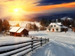 Sunrise Winter Country