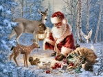 Santa Feeding Wildlife F
