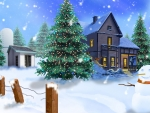 beautiful 3d winter