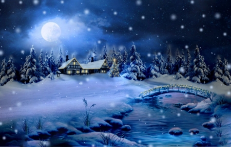 winter night winter amp nature background wallpapers on