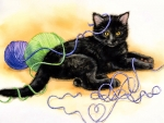 Kitten in the Yarn F