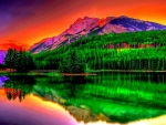 Colorful Lake Reflection