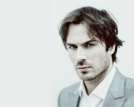 Ian Somerhalder - man, actor, handsome, white, face, blue, Ian Somerhalder