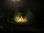 Tent in a glass-ball