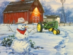 Countryside Snowman
