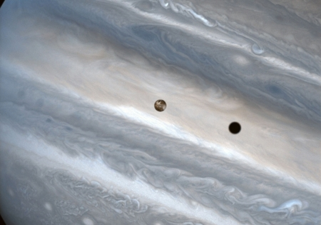 Io over Jupiter