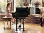Little Girl at the Piano F