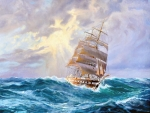 Tall Ship at Sea f