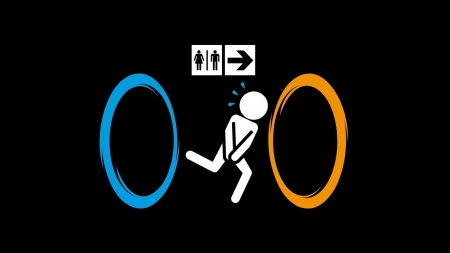 Portal fun - cool, funny, Portal, entertainment, video game