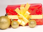 Golden Baubles And Present