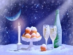Snowy night of celebration