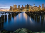 Manhattan  cityscape reflections