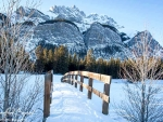 Wooden Bridge at Lake Minnewanka, Banff NP