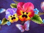 Butterflies and Pansies