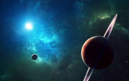 You Are Going - moon, space, 3d, stars, planets, galaxies