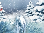 Mystical Winter Horse
