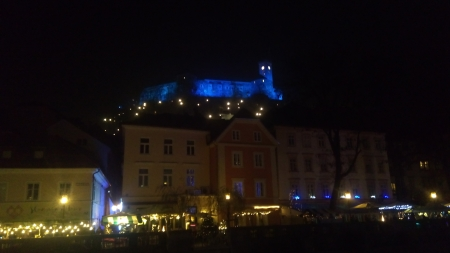 Ljubljana, Magic castle - New Year lights, castle, Magic, Ljubljana