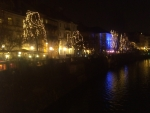 Ljubljana, New Year Lights at river Ljubljanica